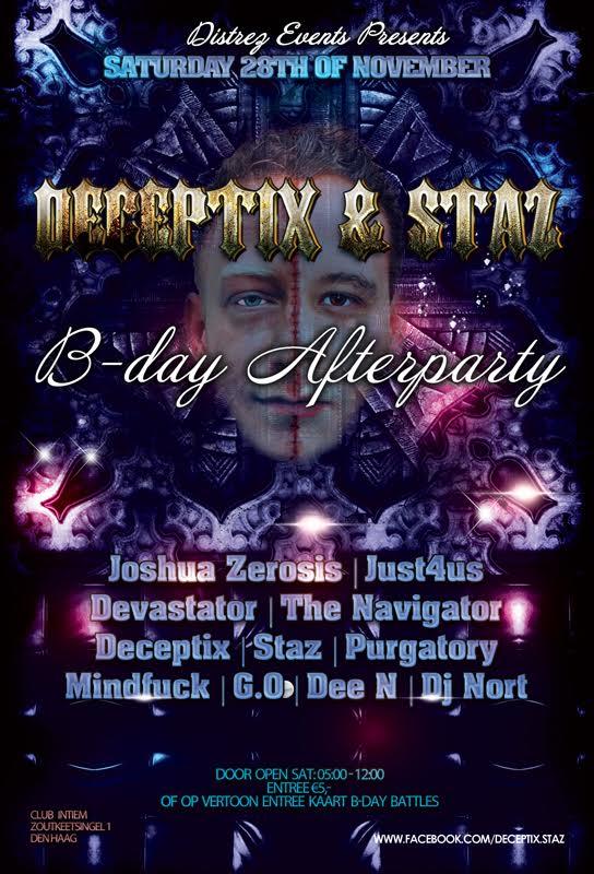 Deceptix & Staz 'B-day Afterparty'